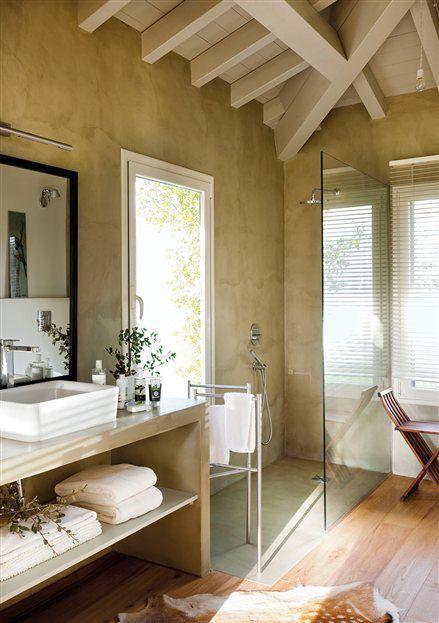 Ba o con ducha y mueble bajolavabo de obra bathroom - Banos con ducha de obra ...