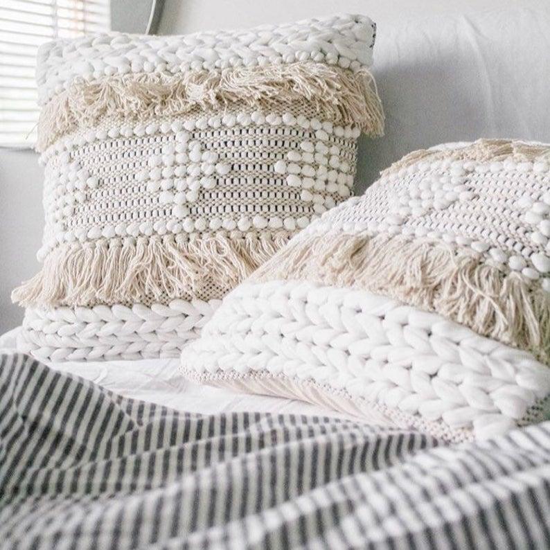 boho fringe pillow cover bohemian