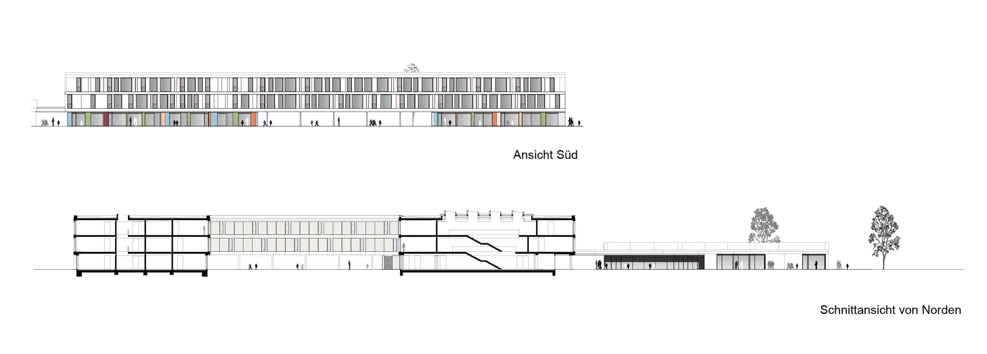 Ansicht Architektur schnitt ansicht architektur