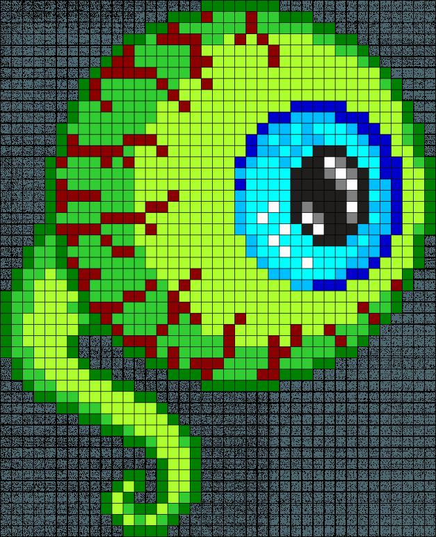 Tentacle Eye Perler Bead Pattern / Bead Sprite minecraft pixel art grid maker anime ideas easy ...