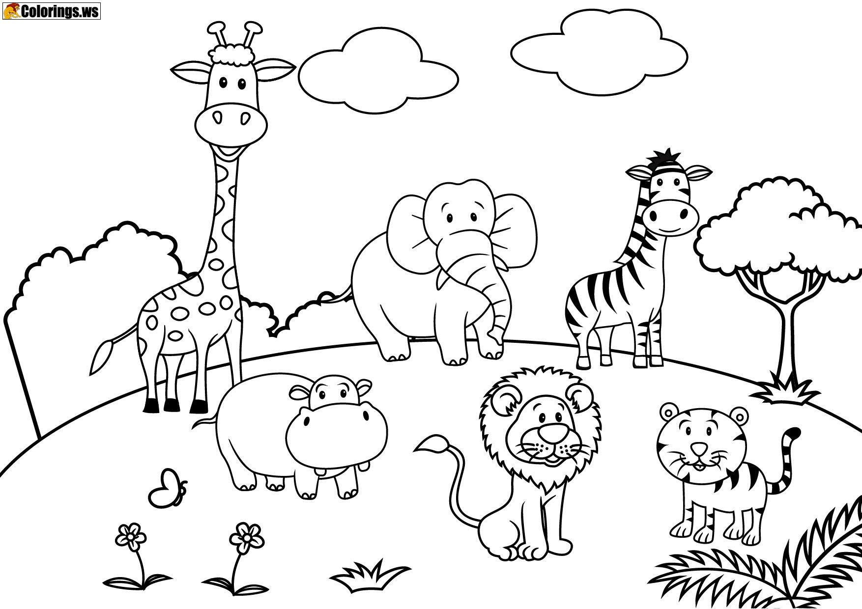 Playground 10 Playground Coloring Pages Free Printable
