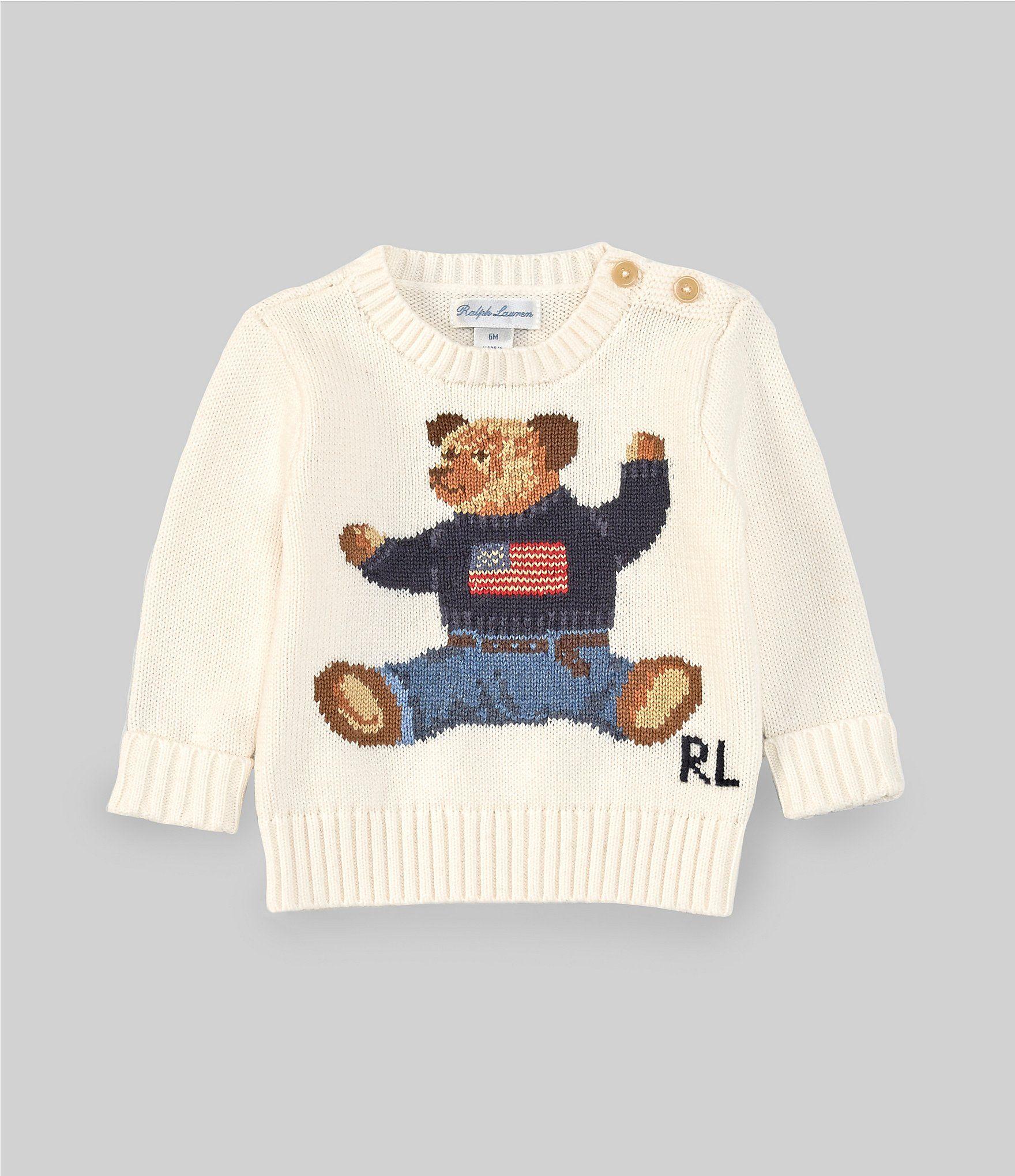 Photo of Ralph Lauren Baby Boys 3-24 Months Long-Sleeve Flag Bear Sweater | Dillard's