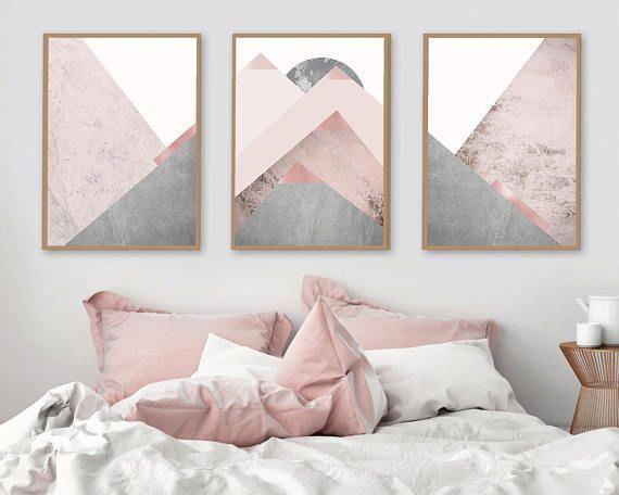 Blush Pink And Gray Bedroom Rose Pink Pantone Ash Rose Mauve Pink Bedroom Girl Bedroom Decor Grey Bedroom Decor Blush Pink And Grey Bedroom