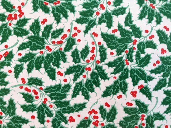 Vintage Christmas Gift Wrapping Paper Traditional Christmas