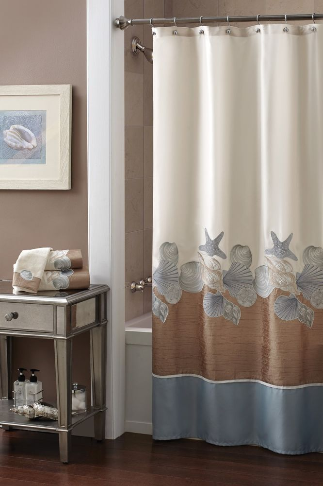 Croscill Shells Ashore Shower Curtain, 70 By Natural A Strikingly One Of A  Kind Coastal Look Is Achieved With This Pieced Shower Curtain.