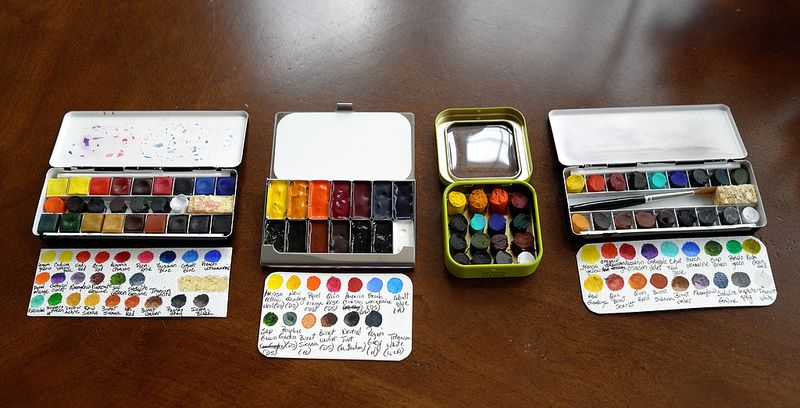 My Tiny Watercolor Palettes Watercolor Kit Travel Art Kit