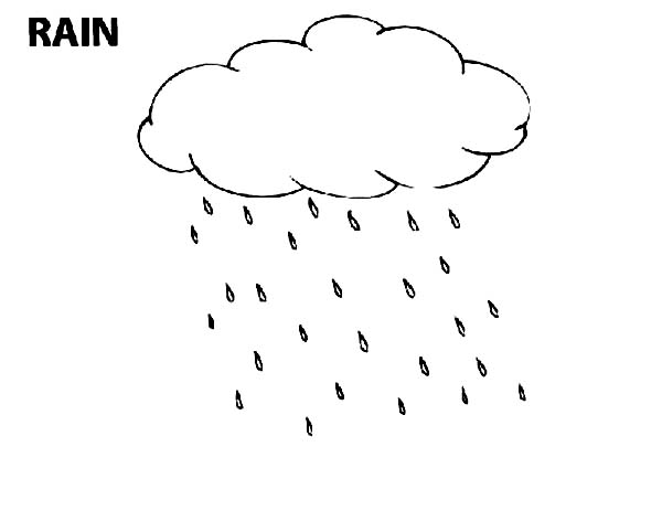 Raindrop Slowly Blow By The Wind Coloring Page Color Luna Coloring Pages Rain Drops Color