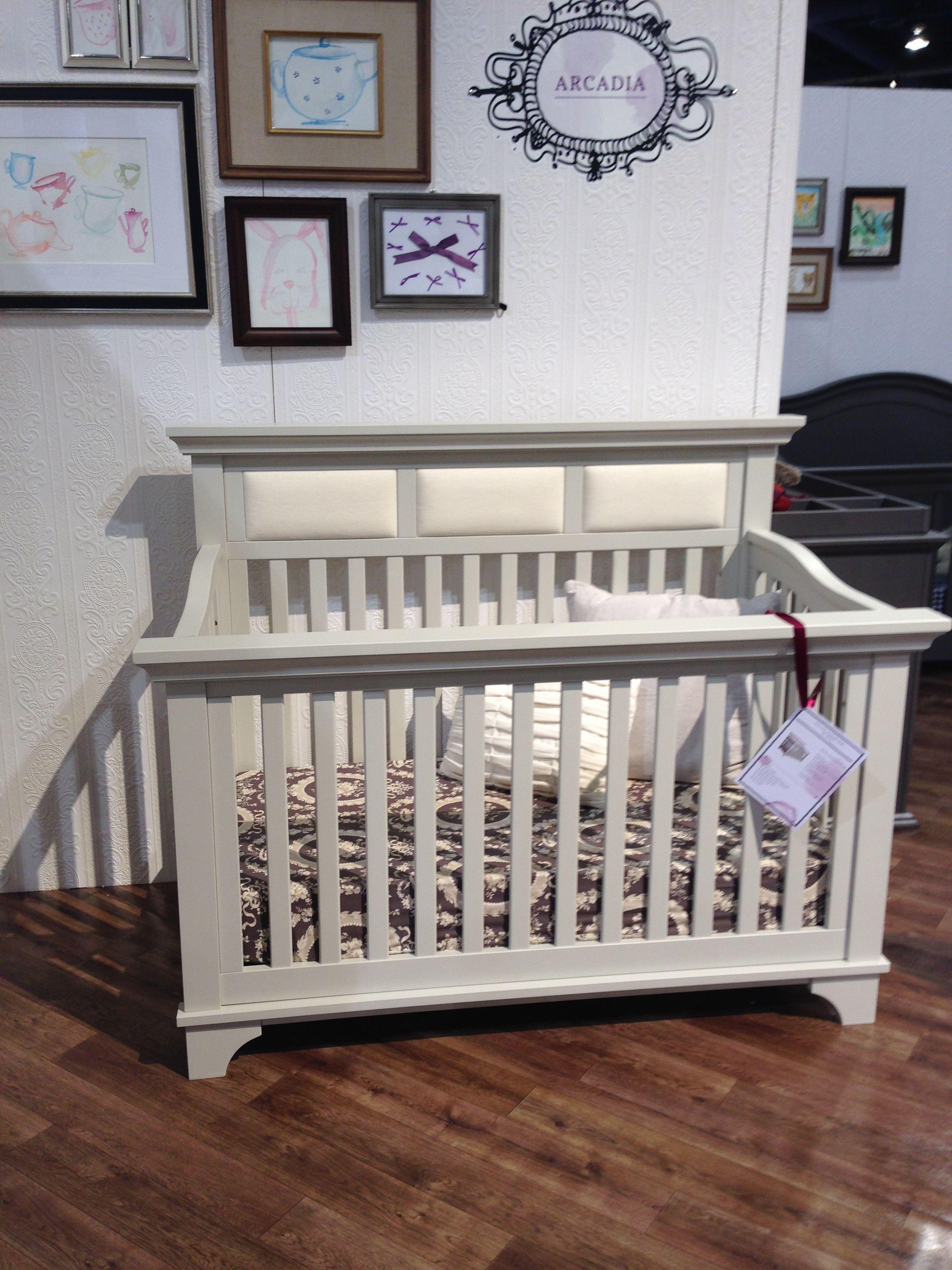 Crib for sale kelowna -  Mdb Playroom Franklin Ben Arcadia Crib Has Linen Panels Built Into The Headboard And We Love