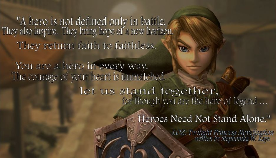 Inspirational Quotes From Video Games Bing Images Link Twilight Princess Inspirational Quotes Princess Face