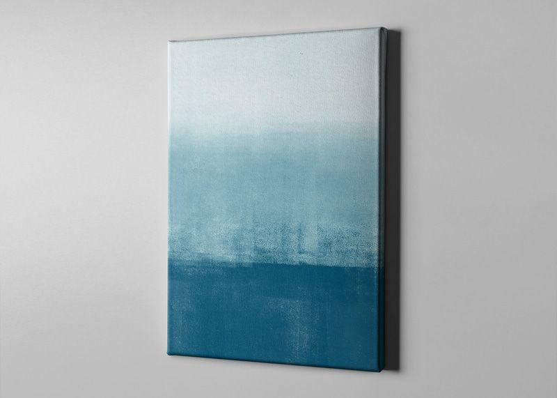 Bari Gallery هدوء أزرق لوحة كانفس لوحة فنية جدارية للمنزل Office Supplies