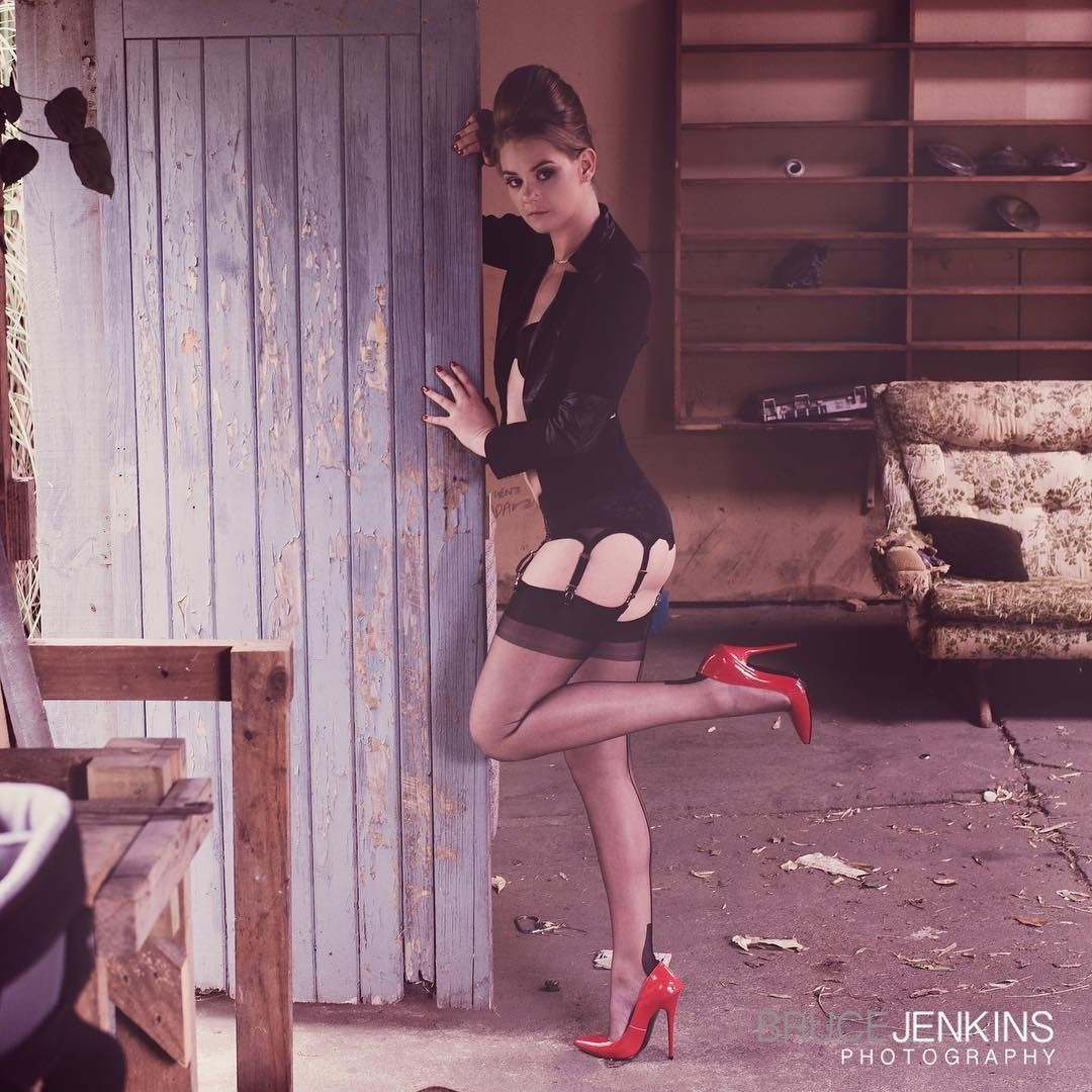 Pin on Stockings and heels 7