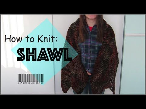 How to Knit a Shawl Loom Knitting - http://www.knittingstory.eu/how ...