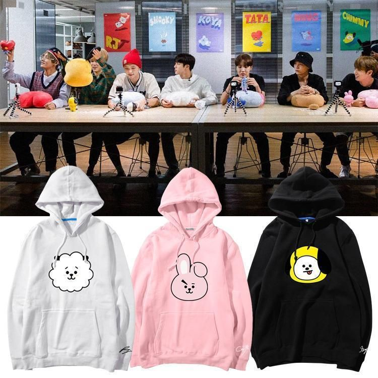 Bts Bt21 Character Hoodies Bt21 Merch Hoodie Kpop Idols Fashion Clothes Store All Ulzzang Shop Bts Hoodie Bts Clothing Hoodies