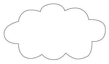 patron nuage pour tuto mobile en tissu deco pinterest nuage patron et tissu. Black Bedroom Furniture Sets. Home Design Ideas