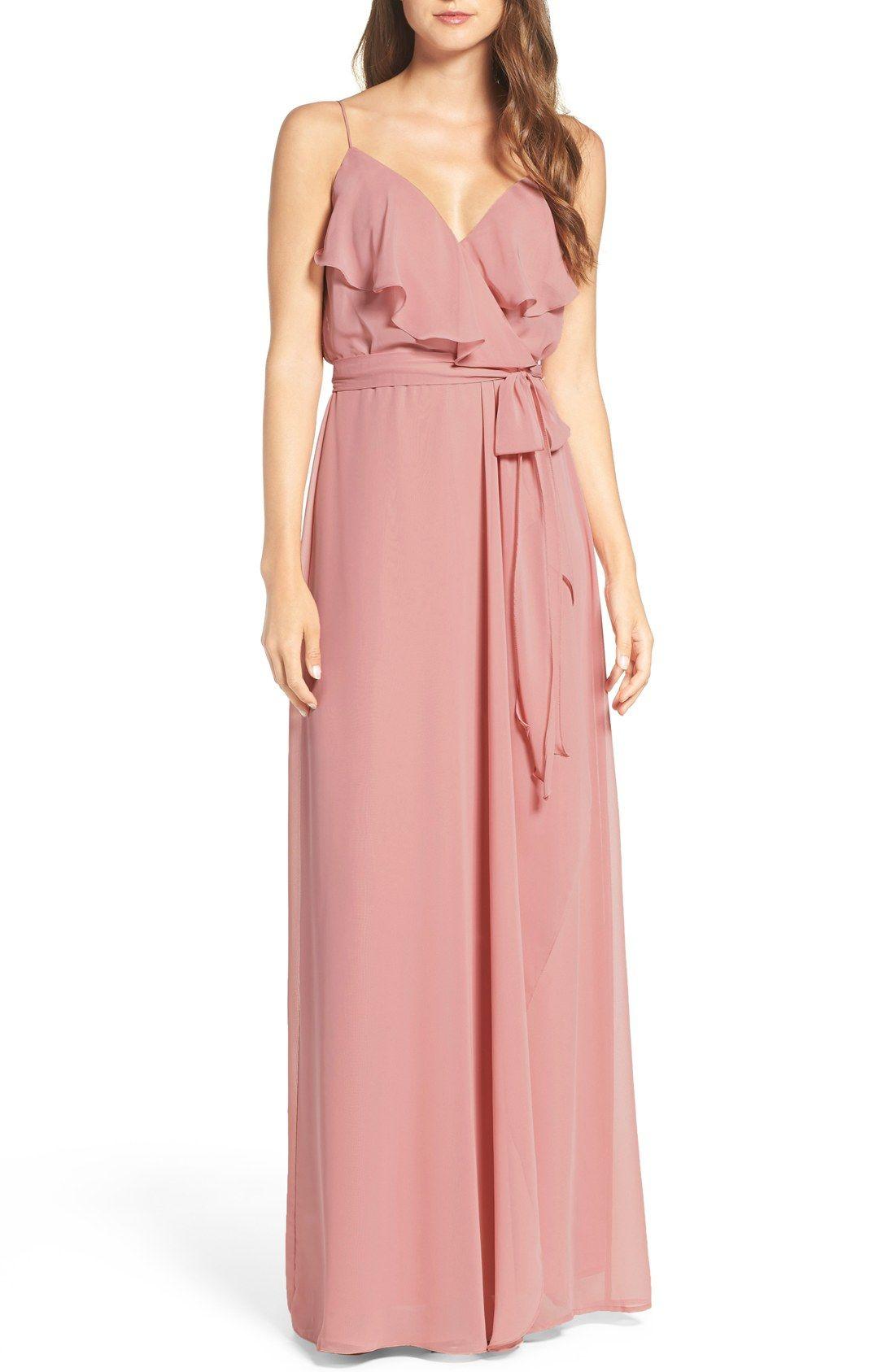 Drew\' Ruffle Front Chiffon Gown | Blush Weddings | Pinterest