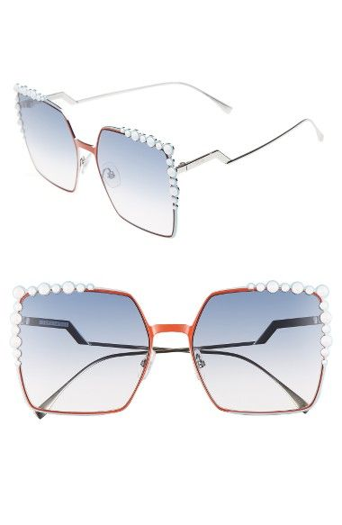 ba3ddfce9f FENDI 60Mm Gradient Square Cat Eye Sunglasses. #fendi #   Fendi in ...