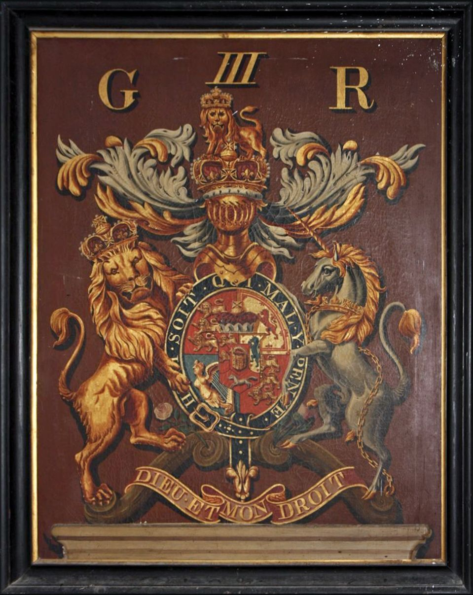 Royal Coat Of Arms Of George Iii In St Peter S Church At