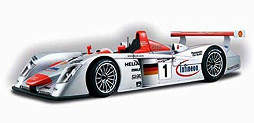 Le Mans-Sieger 2001 Infineon Audi R8 Race Car #1, Silver - Maisto GT Racing 38626 - 1/18 Scale Diecast Model Toy Car