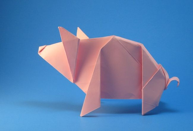 Origami Pig by Michael G. LaFosse folded by Gilad Aharoni ... - photo#20