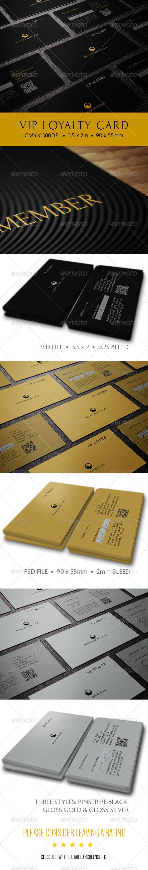 Membership Cards Templates The Vip Card #graphicriver Share The Love And Reward Your Customers .