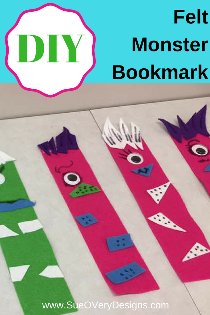 How To Diy Super Fast And Easy Felt Monster Bookmark Sew Kids