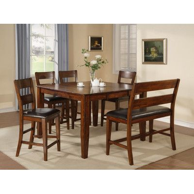 6 Piece Dining Set In 2019 Dining Room Counter Height Dining