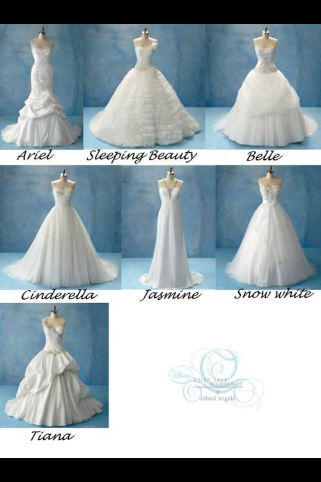Disney themed wedding dresses | weddings | Pinterest | Themed ...