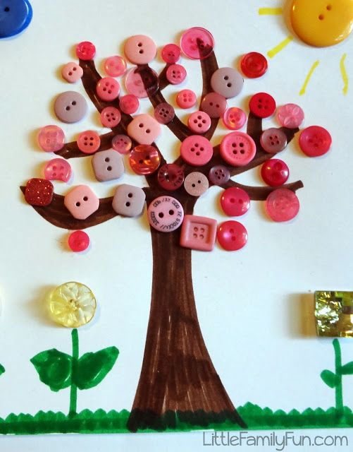 Button Craft Ideas For Kids Part - 17: Little Family Fun: Spring Button Craft For Kids!