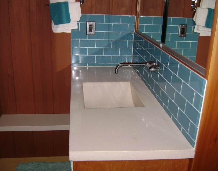 Single Drop In Bathroom Sinks And Vanities Made Of Porcelain In Wooden Top  Vanity