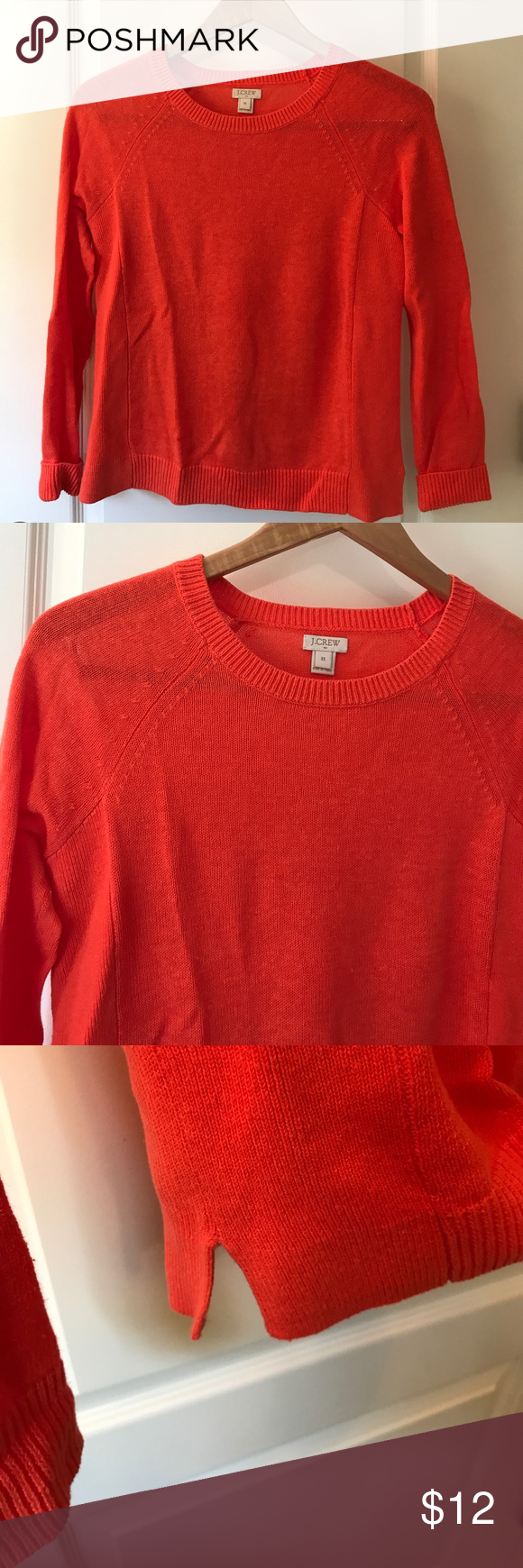 J. Crew orange thin sweater | Customer support and Delivery