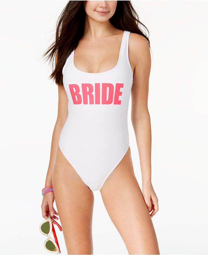d538d2b7a1c California Waves Bride Graphic One-Piece Swimsuit Women s Swimsuit ...