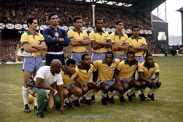 Print Of Soccer World Cup England 1966 Group Three Portugal V Brazil Goodison Park Soccer World World Cup Brazil Team