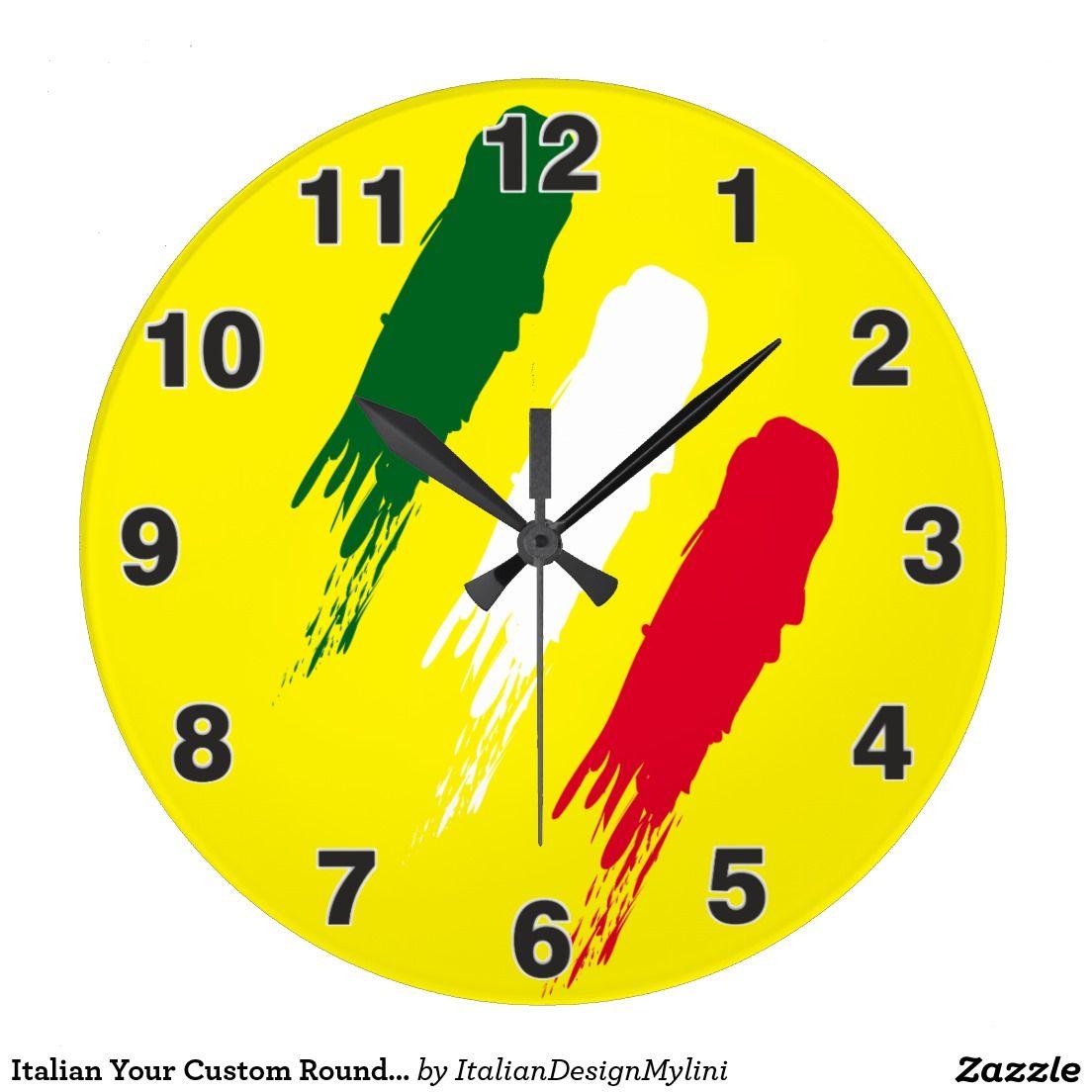 Italian Your Custom Round (Large) Wall Clock | Clocks by Mylini ...