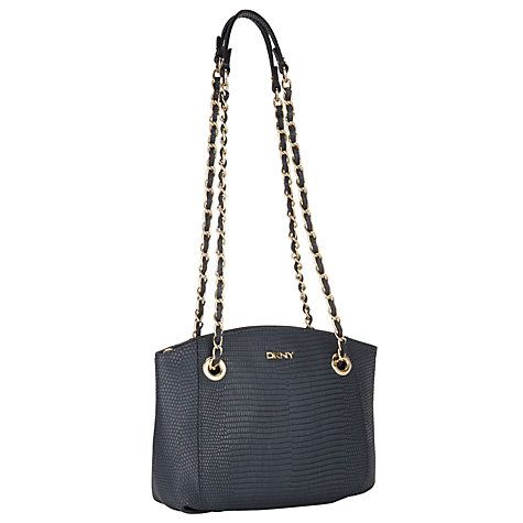 e56a88387 Buy DKNY Fashion Two Tone Lizard Top Zip Leather Shoulder Bag Online at  johnlewis.com