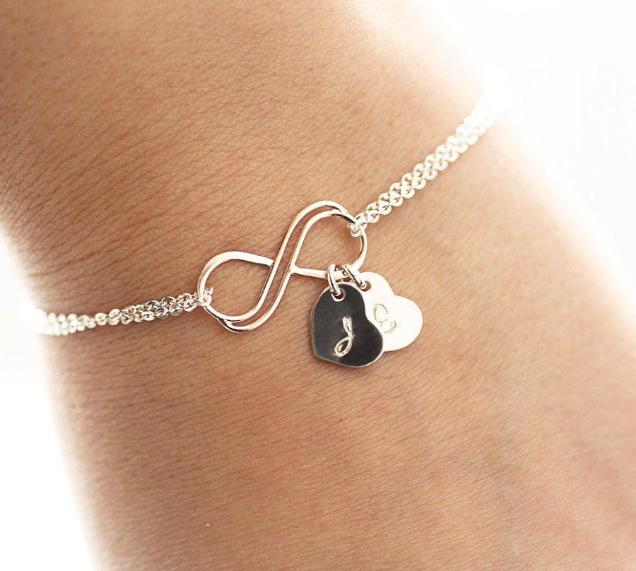 Personalized Infinity Bracelet Initial By Bijouxbymeg 32 00