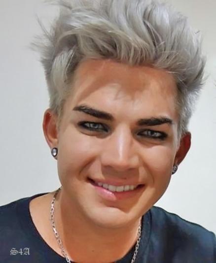 Adam Lambert White Hair Gray Hair Men Hair Color White Hair