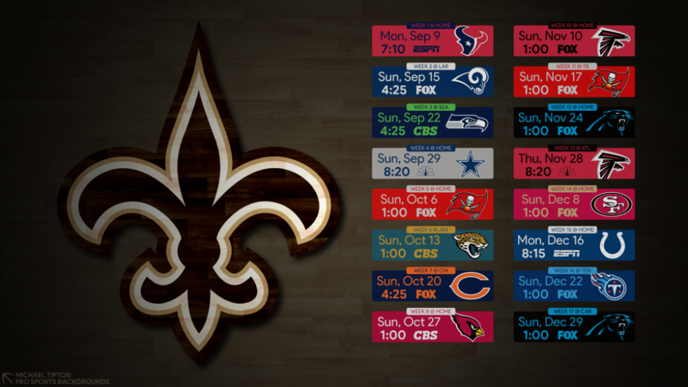 2019 New Orleans Saints Wallpapers Pro Sports