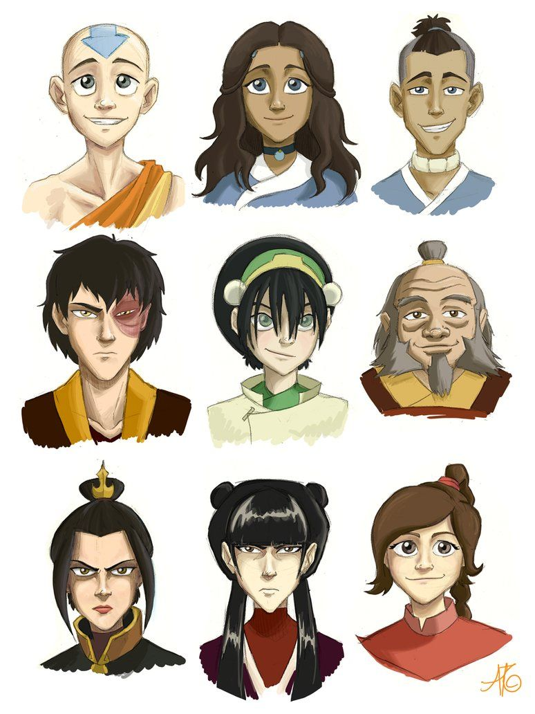 Avatar Characters Avatar Characters Avatar Funny The Last Airbender Characters