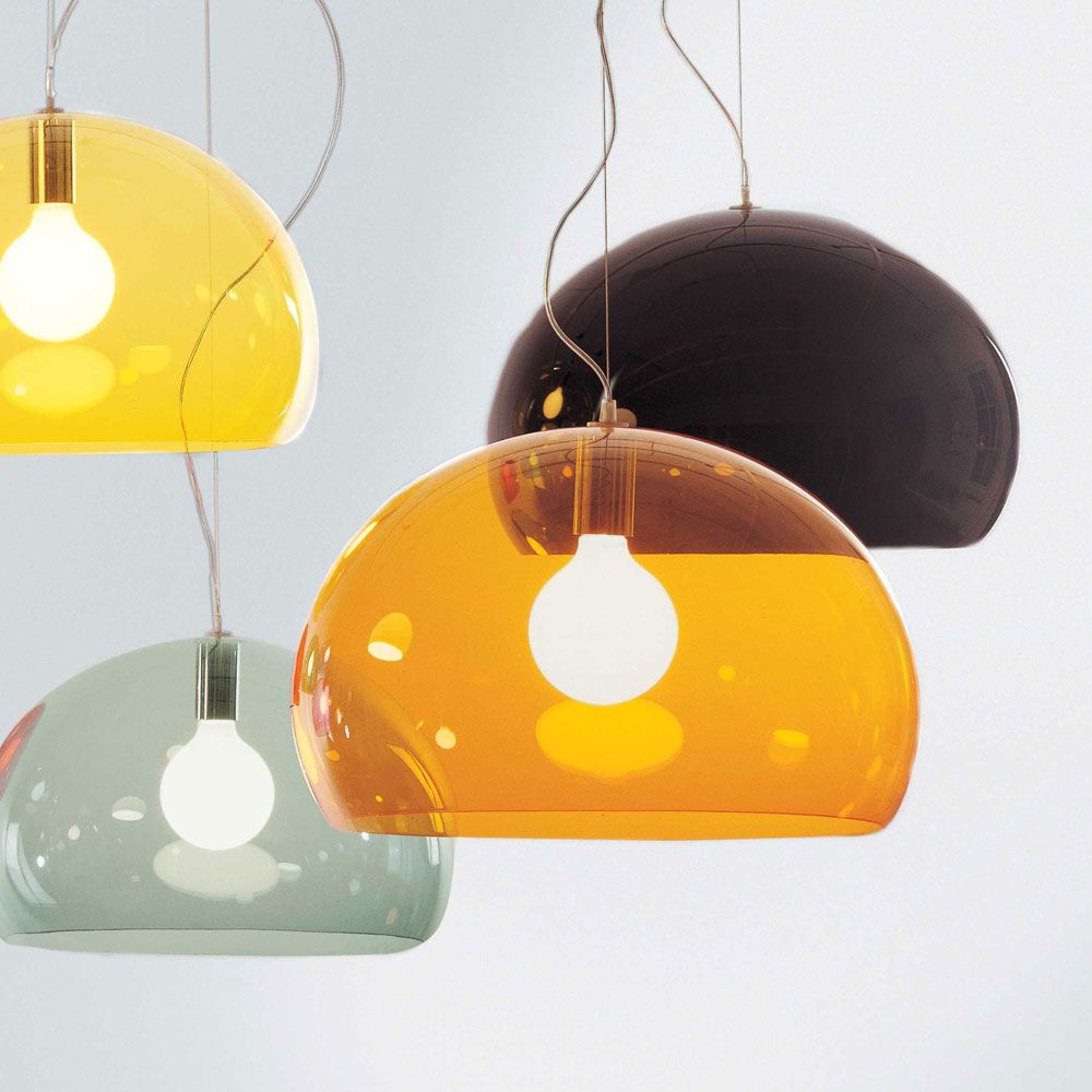 FL/Y Lampa, Orange - Ferruccio Laviani - Kartell - RoyalDesign.se