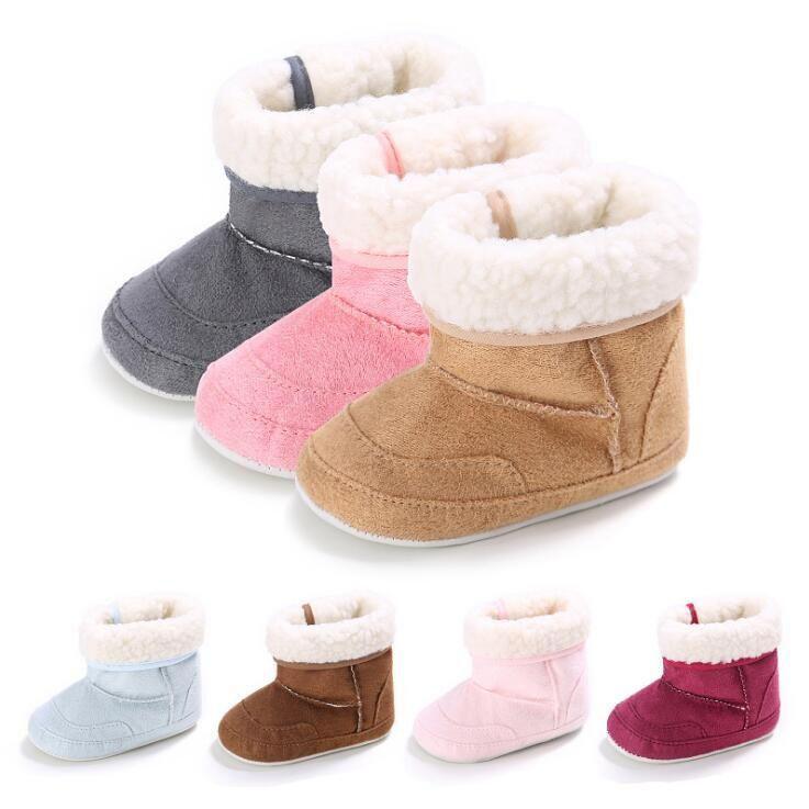 Bébé garçon Soft Sole berceau Chaud Chaussures Bottes Coton Enfant Chaussures Prewalke VzJ3YPAEC