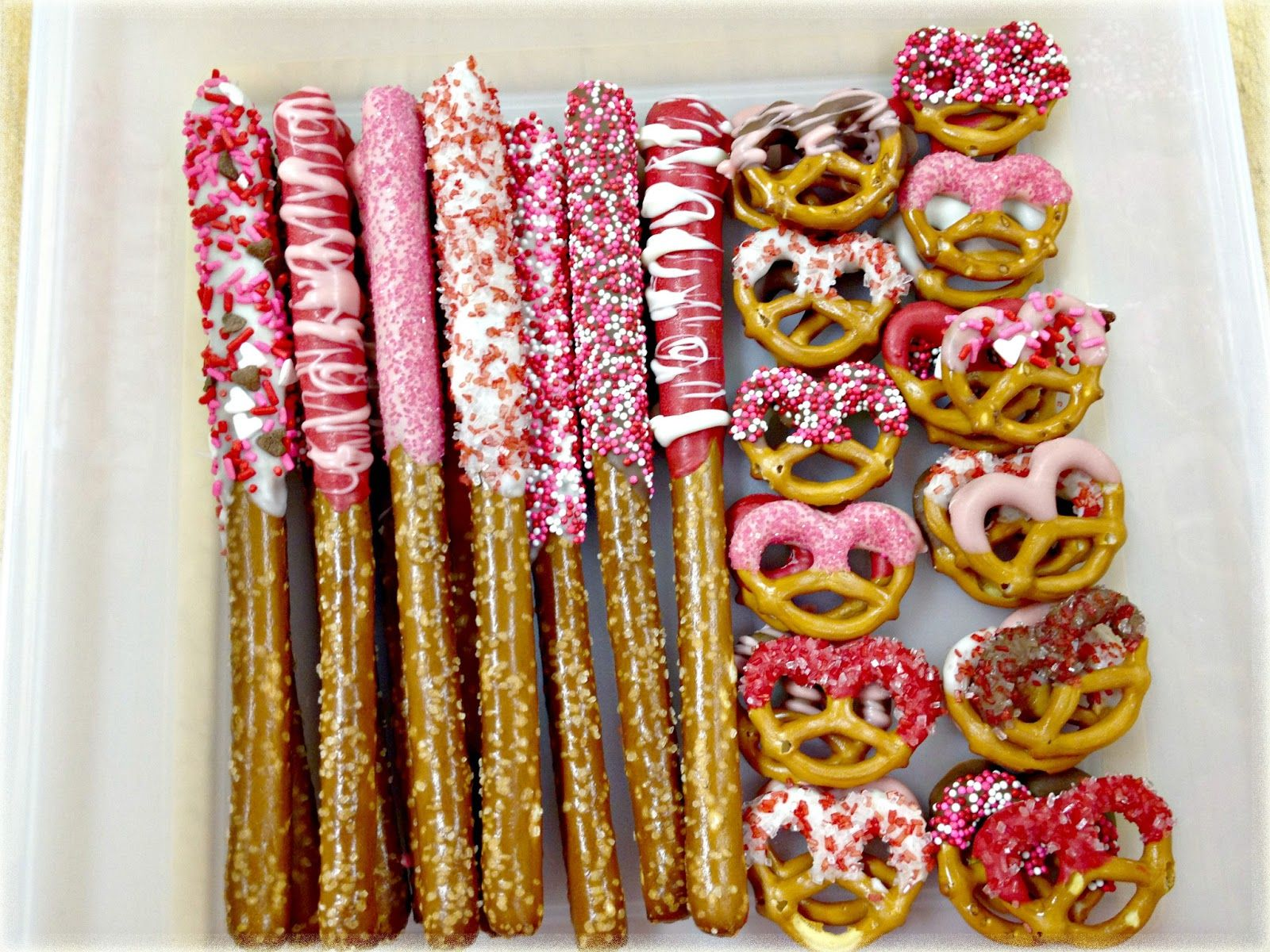 Valentine Chocolate Covered Pretzels Valentine S Day Treat Yummy