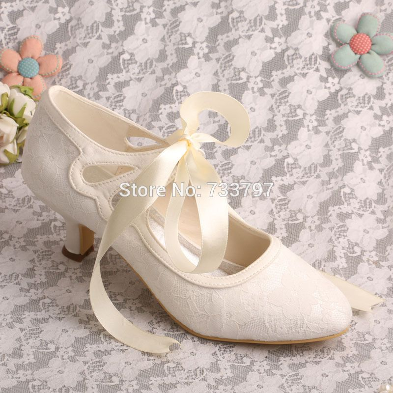 ivory lace heels close toes