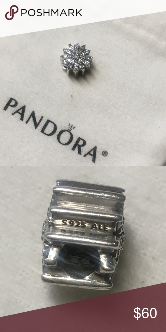 7335716be Pandora Ice Crystal Charm Sterling Silver and Clear CZ 791764CZ. NWOT. Bag  Not Included. Price is firm unless bundled. No trades. Pandora Jewelry  Bracelets