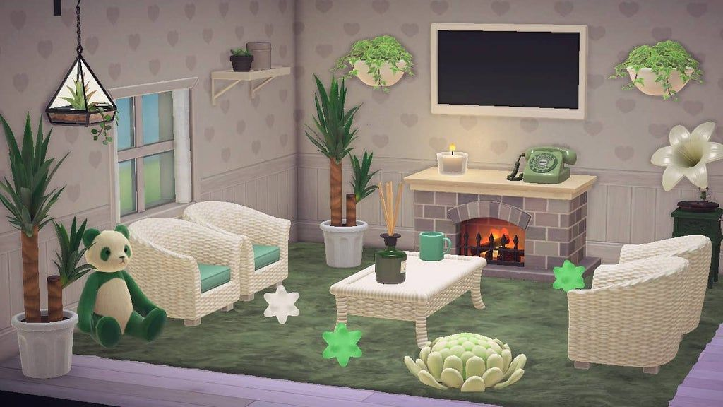 I finally have a living room! : AnimalCrossing in 2020 ... on Animal Crossing Living Room Ideas New Horizons  id=56259