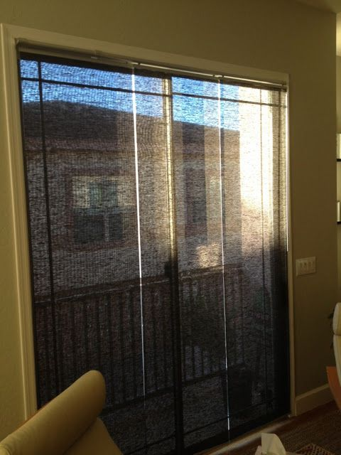 Kvartal Panels Mounted Inside A Sliding Glass Door Glass