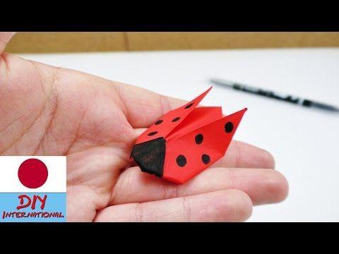 テントウムシを折り紙で折ろう - YouTube