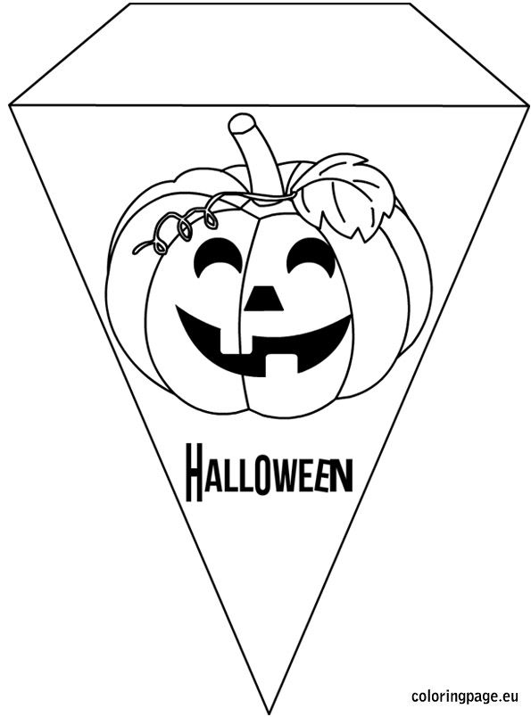 Printable Halloween Banner Coloring Halloween Banner Halloween Printables Coloring Pages