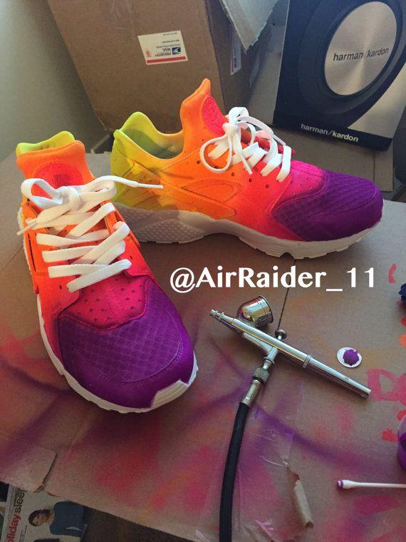 7362b4bda4c Custom+Nike+Huaraches+Multicolored+by+KicksByK+on+Etsy   Chloe ...