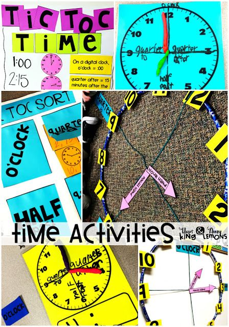 Telling Time Whole Group Lessons, Games, and Interactive Notebooks