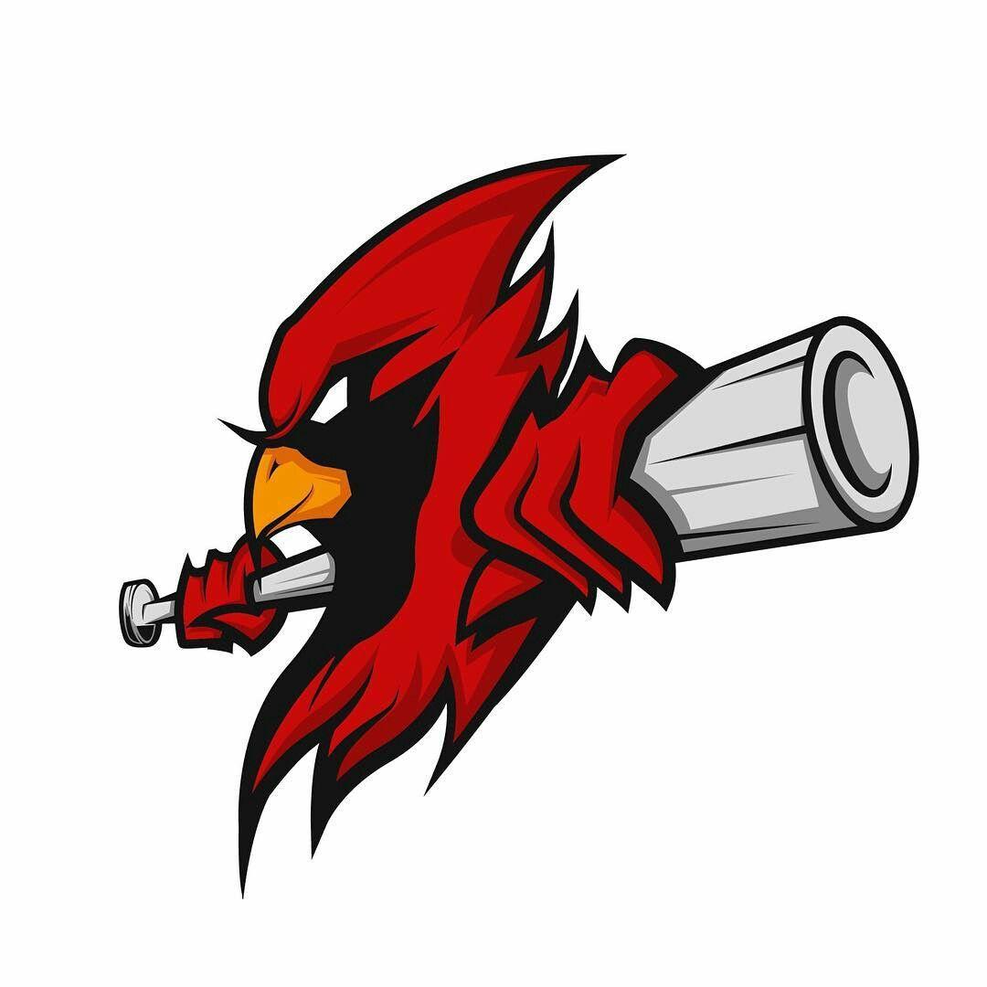 Logo Baseball Cologne Cardinals Sport Illustration Bat Sports Graphicdesign Vector Bird Binatang Logo Keren Desain Logo